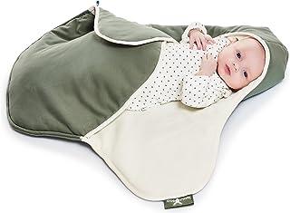 WALLA Boo einschlagdecke COCO, 非常實用和毛絨柔軟嬰兒毛毯, 棉, 90 x 70厘米 綠色
