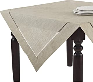 fenncostyles.com 手工毛线设计天然桌布。 一件式。 80 英寸方形。