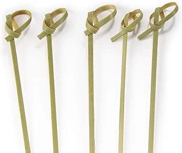 结竹签适用于 cocktails 和 hors ' D 'oeuvres 绿色–bamboomn 品牌 Natural Green 4.7 英寸
