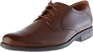Clarks 男士 Becken 系带布洛克鞋