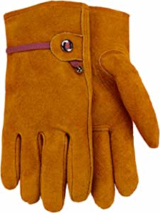 Midwest Gloves and Gear 431E-L-AZ-6 Men's Suede Cowhide Work Glove, Large, 1-Pack