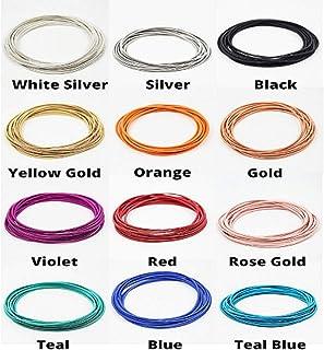 葡萄酒佩戴弹簧手链 [青铜]: 手链套装 - 手链堆叠 - 分层 - 混合搭配(12 件装)