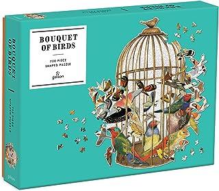 Galison 花束小鸟形状拼图,750 片,54.61 x 58.42 厘米 – 拼图采用艺术家 Ben Gilles 的精美模切设计 – 厚实坚固的拼图 – 极具挑战性的家庭乐趣