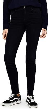 FIND Women's Frayed Hem Straight Jeans