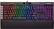 CORSAIR K95 RGB 铂金 XT 机械游戏键盘,背光红绿蓝光 LED 樱桃 MX 高速 RGB 银色,黑色