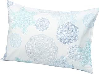 西川リビング  枕套 ON22 蕾丝花边 花边 中盖式 45×65cm 浅灰蓝色 2138-22919