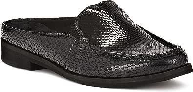 Walking Cradles Windsor W-100902 女式休闲拖鞋皮鞋 Black Patent Snake Print Leather 6.5 XW US