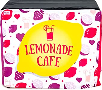 HIDEABOO Lil' Biz 涤纶易柠檬色桌套 Pink/Yellow Cafe Standard Card Table 4788