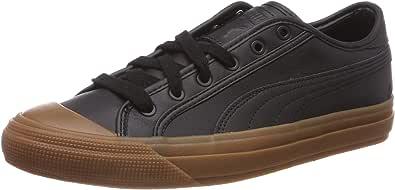 Puma 中性款成人 Capri 皮革低帮运动鞋 Black (Puma Black-gum-gum) 6 UK