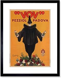 复古AD VOV PEZZIOL LQUEUR PADOVA ITALY 后备箱框印画 F97X7722 黑色 9 x 7 inc - 23 x 18 cm F97X7722_Black