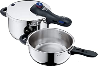 WMF 福騰寶 Perfect Plus 壓力鍋,2件套,3升/4.4升,不含配件,德國制造,Cromargan不銹鋼
