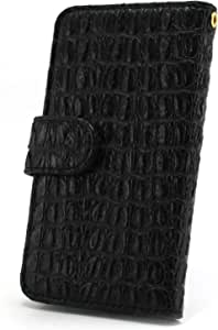whitenuts 保护套翻盖式 ( 左手 ) 鳄鱼图案  黑 1_ iPhone8 Plus