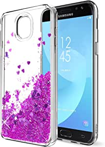 Galaxy J7 2018手机壳,J7 Aero/J7 Aura/J7 Top/J7 Refine/J7 Eon/J7 Star 手机壳,SKTGSLAMY 3D 黑色幸运福猫猫咪可爱蝴蝶结硅胶橡胶手机壳保护套,适用于 J7 2018Samsung Galaxy J7 2018 Z-purple