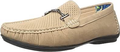 Stacy Adams 男士 Pomp 一脚蹬乐福鞋 灰褐色 8 M US