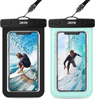 JOTO 通用防水袋,IPX8 防水手机干燥袋水下保护套适用于 iPhone 11 Pro Max Xs Max XR X 8 7 6S+ SE,Galaxy S20 Ultra S10 S9 S8/Note10+ 9 至 6.9 英寸 - 2 包 黑色+*