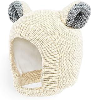 Happy Tree 儿童婴儿帽保暖羊毛内衬针织幼儿冬季帽子耳罩