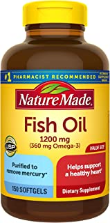 Nature Made 天维美 欧米伽3深海鱼油液体软胶囊 150粒