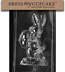 Dress My Cupcake DMCE304BSET 巧克力糖果模具,2 件带鸡蛋的兔子,6 件套