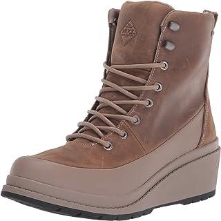 Muck Boot 女式 Liberty 灰褐色 6 码防水坡跟鞋