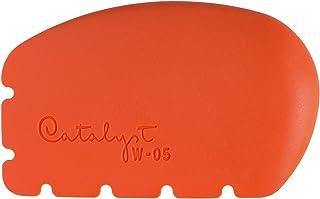 Princeton Catalyst 硅胶楔子,适合艺术家颜料、石膏、粘土和霜 Orange W Size No. 5 Wedge W-0-5