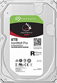 Seagate IronWolf Pro 3.5英寸 8TB HDD 帶數據復古服務5年保修 256S 7200rpm 24小時工作 PC NAS 用 RV傳感器 ST8000NE001
