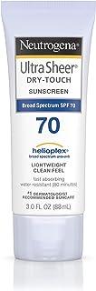 Neutrogena 露得清 超薄干爽防晒乳液,SPF 70,3 液体盎司/88ml