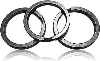 Valtcan 钛钥匙圈 钥匙圈 分离式环 3 件装 *石洗表面处理 防损 携带方便 低噪声 32mm 外径和 26mm 内径