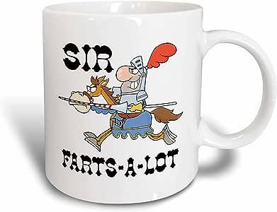 Dooni Designs - Funny Sir Knight Designs - Funny Knight Sir Farts A Lot - 11oz Mug (mug_203483_1)