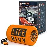 Life Bivy 急救睡袋 保暖 Bivvy - 用作应急 Bivy Sack、生存睡袋、薄膜急救包、生存用具 - 包括带生存哨的尼龙背包 + 伞绳绳绳绳