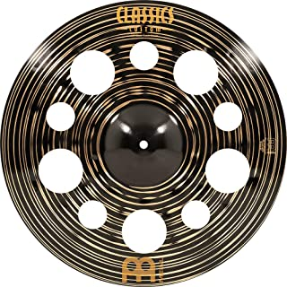 Meinl Cymbals 45.72 厘米垃圾镲片带孔 - 经典定制深色 - 德国制造,2 年保修(CC18DATRC)
