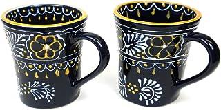 2 件套手绘喇叭马克杯 蓝色 - Encantada Pottery