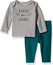Hanes Ultimate Baby Flexy 2 件套(带长袖圆领 T 恤)