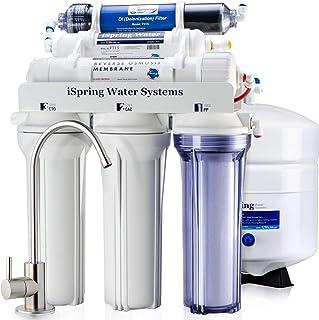 iSpring RCC7D 75 GPD 反渗透水过滤系统带零 TDS Deionizer 过滤器,适用于水族箱和无尘清洁