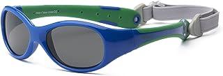 RKS 美国 防紫外线男童女童宝宝儿童太阳镜 附可拆卸镜 建议2岁以上(探险者)宝蓝色+绿色