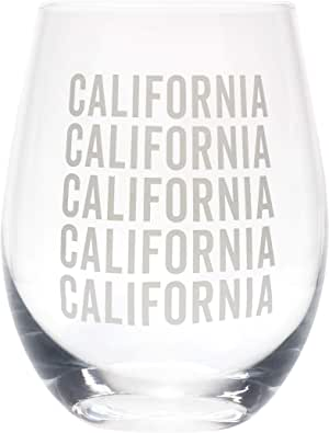 State Repeating Grey 16 盎司玻璃酒杯 California Grey 4 x 4 129532
