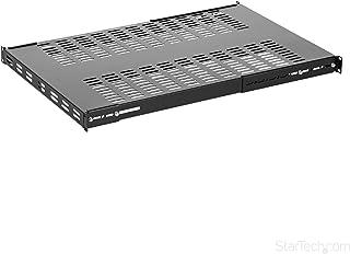 StarTech.com 1U Adjustable Mounting Depth Vented Rack Mount Shelf - Heavy Duty Fixed Server Rack Cabinet Shelf - 250lbs/113kg