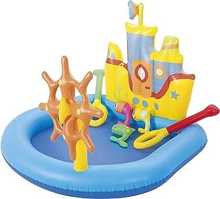 H2OGo! Tug Boat 充气儿童游泳池 | 户外家庭娱乐池夏季玩具 | 儿童泳池和游泳玩耍套装