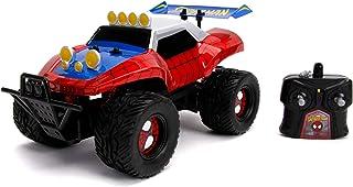 Jada Toys 253228000 Marvel RC 蜘蛛侠,婴儿车,遥控汽车,涡轮功能,2通道无线遥控,USB充电功能,含电池,1:14,红色/蓝色