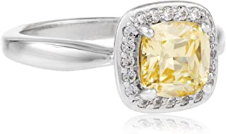 Myia Passiello 加垫式切割 Canary 施华洛世奇锆石光环戒指