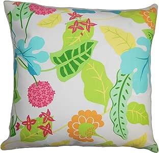 "The Pillow Collection Gamila 花朵户外欧式枕套* * King/20"" x 36"" KING-ROB-BAJAFLORAL-FIESTA-"