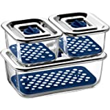 WMF 福腾宝 Top Serve 0654249999 带排水网格的保鲜盒 三件套