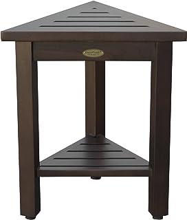 Decoteak FlexiCorner 43.18 厘米三角形柚木户外模块化长椅和桌子带支架 棕色 DT40