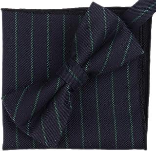 Flairs New York 法兰绒和花呢系列领结和口袋方形搭配套装