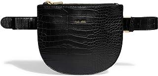 Pixie Mood Demi 8 x 6.75 纯素皮革可转换斜挎腰包,黑色