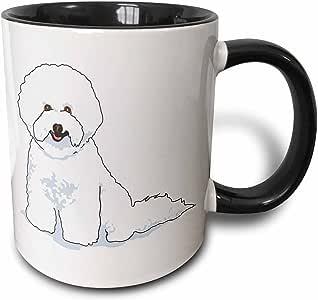 设计玫瑰金色可爱又逗人喜爱–可爱的狗狗卷毛比雄犬–马克杯 黑色/白色 11 oz