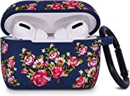 Airpods Pro Case AIRSPO 硅胶 AirPod 保护套无线充电盒盖可爱保护皮肤适用于 Apple AirPods Pro