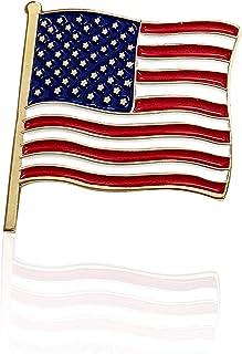 总统 Donald J. Trump 美国国旗翻领别针 - 限量版 24K 金色翻领别针