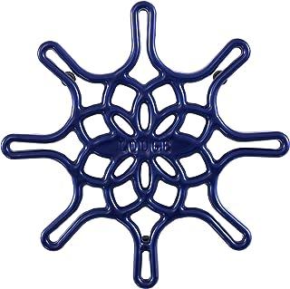 Lodge EC8ST32 搪瓷铸铁长柄平底锅,8 英寸,靛蓝三件套,