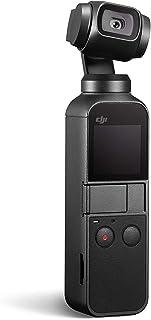 DJI 大疆创新 Osmo Pocket 手持式三轴云台稳定器,带集成摄像头12 MP 1 / 2.3英寸CMOS 4K视频,可连接至智能手机,Android,iPhone,黑色