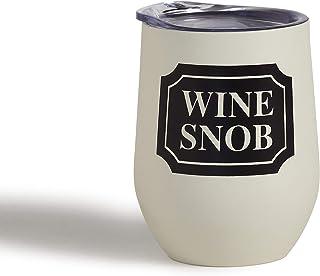 Mona B Wine Snob 340.19 毫升不锈钢酒杯带盖 MG-310